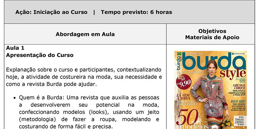 Consultoria - Projeto Social Burda Brasil